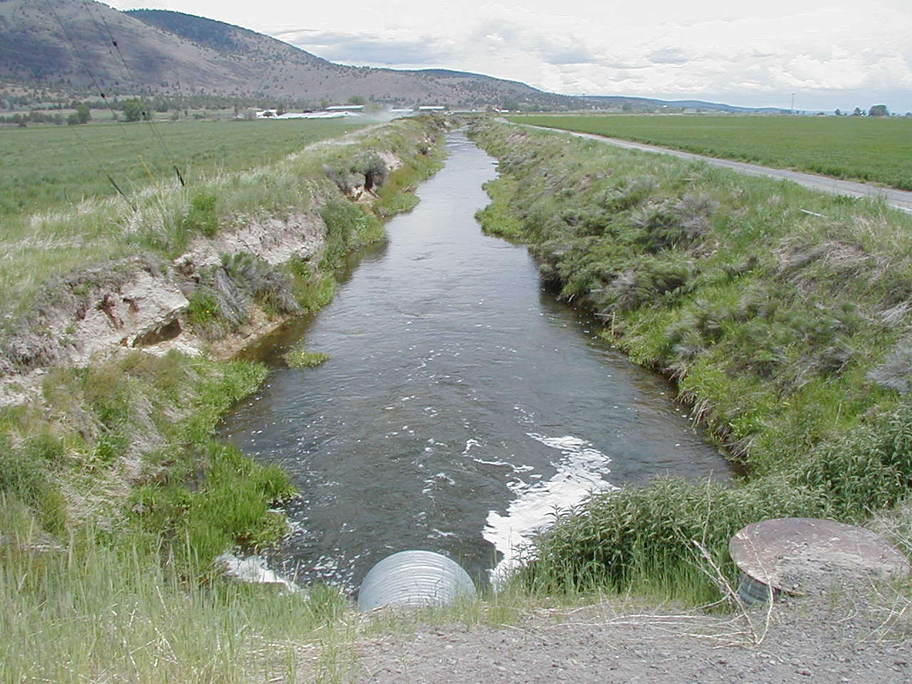 Irrigation Canal In The Lost River Basin Photo